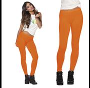 Neon oranje legging