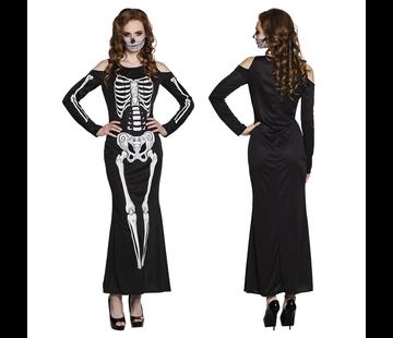Dames skelet jurk
