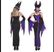 Lange duivel kostuum dames