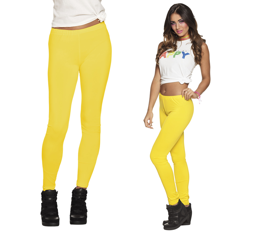 Neon gele legging dames