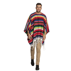 Gekleurde Mexicaanse poncho