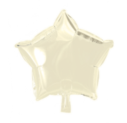 Folieballon ster ivory