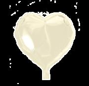 Folieballon hart ivory