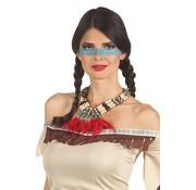 Indianen ketting met veren