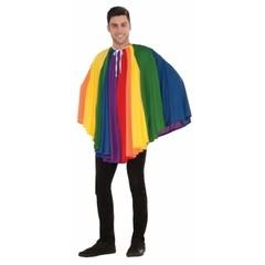 Heren regenboog cape