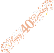 Happy Birthday banner 40