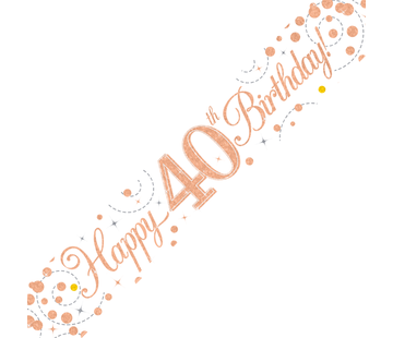 Happy Birthday banner 40
