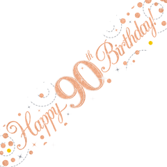 Happy Birthday banner 90