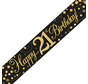 Happy Birthday banner 21 jaar goud zwart