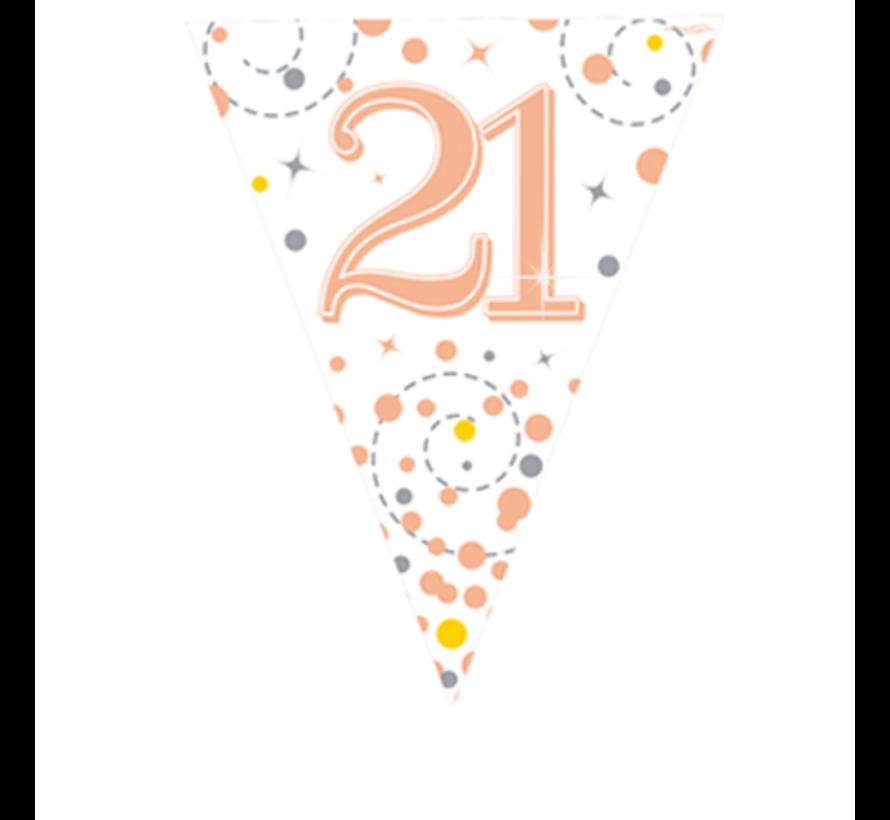 Leeftijd vlaggenlijn 21  jaar rosé-goud