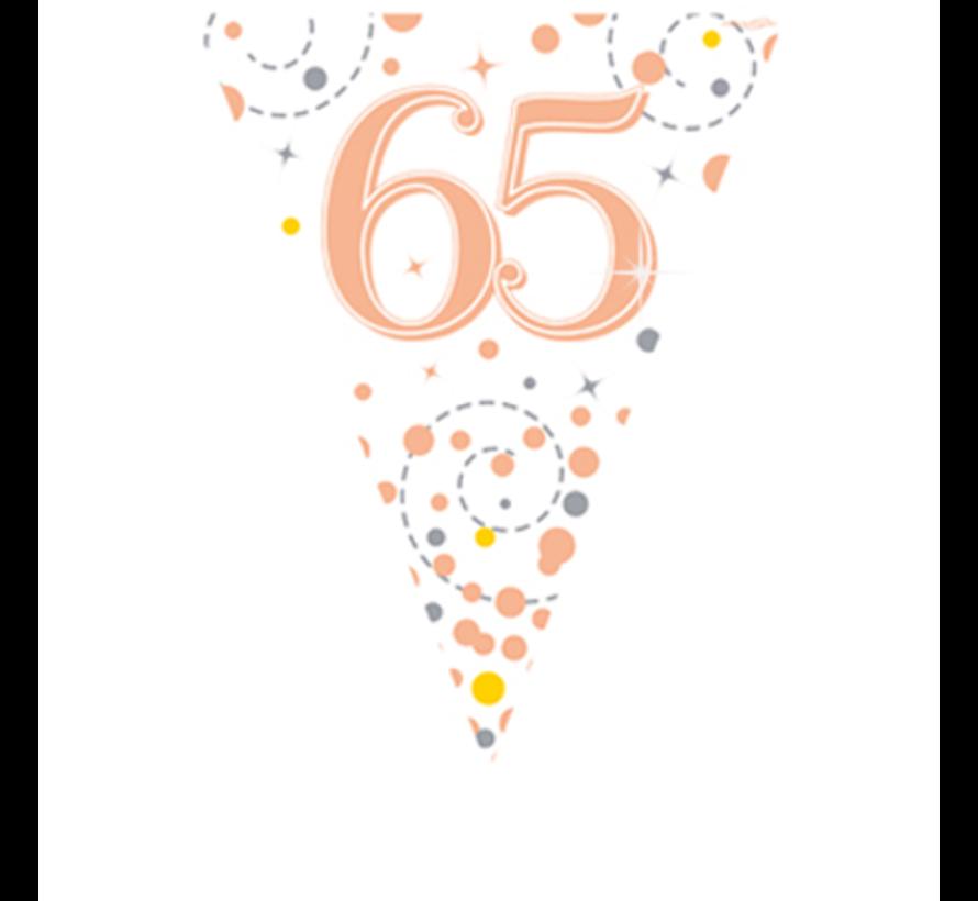 Leeftijd vlaggenlijn 65 jaar rosé-goud