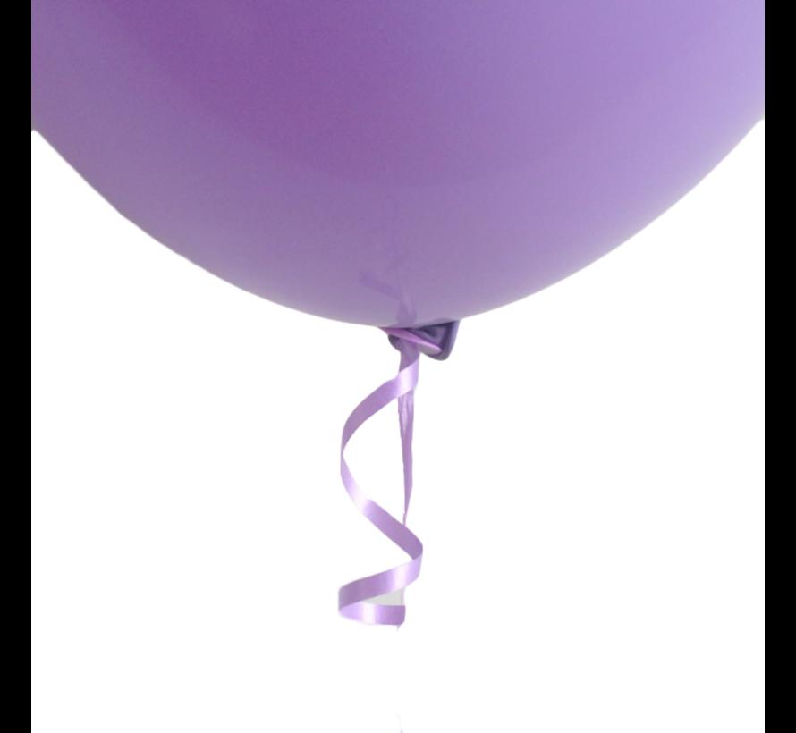 Ballon snelsluiters paars met lint