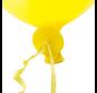Ballon snelsluiters geel met lint