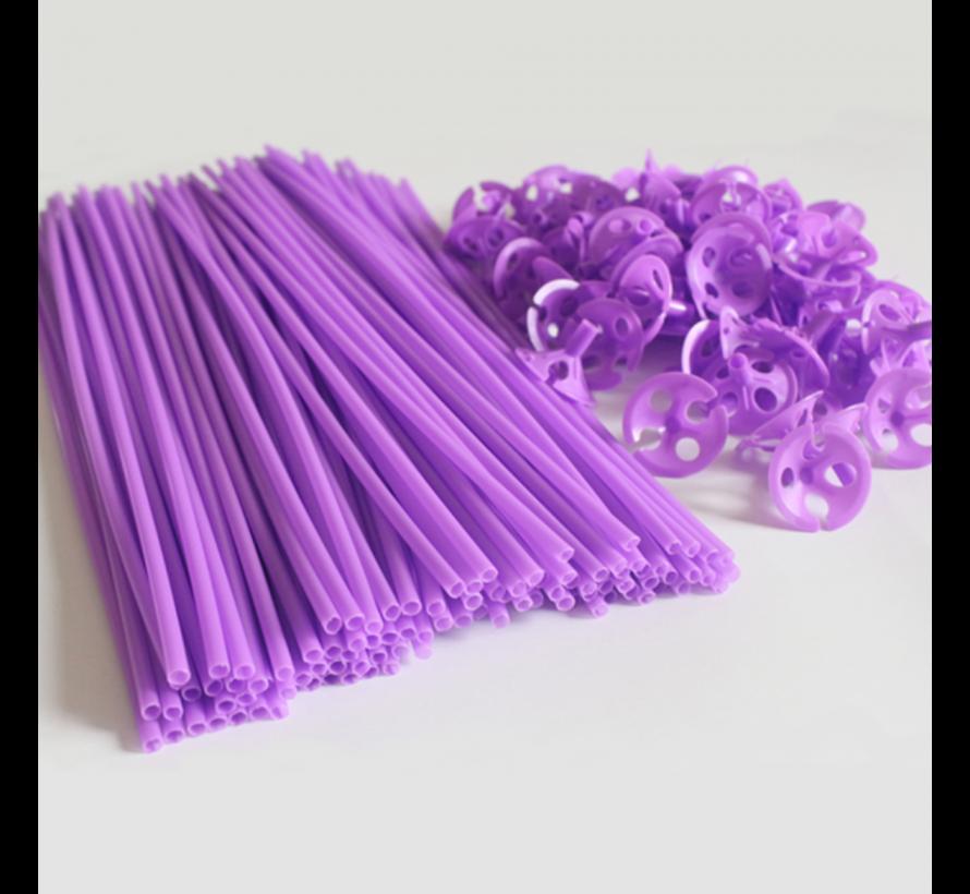Gekleurde ballonnen stokjes in 12 kleuren