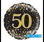 Glitter helium folie-ballon 50 jaar zwart goud