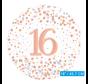 Helium folie-ballon 16 jaar rosé-goud