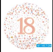 Folie ballon 18 jaar rosé-goud