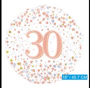 Folie ballon 30 jaar rosé-goud