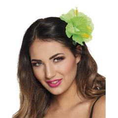 Lime groen haaraccessoires bloem