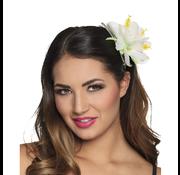 Witte bloem haaraccessoires