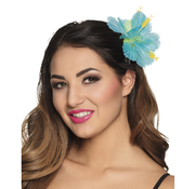 Turquoise bloem haaraccessoires