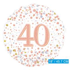 Folie ballon 40 jaar rosé-goud