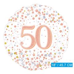 Folie-ballon 50 jaar rosé-goud