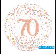 Folie-ballon 70 jaar rosé-goud