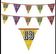 Vlaggenlijn 13 jaar | Glitter slinger 13 jaar