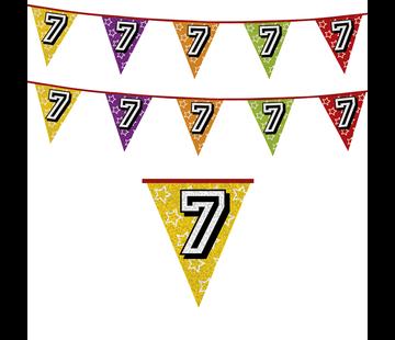 Vlaggenlijn 7 jaar | Holografische vlaggenlijn 7 jaar