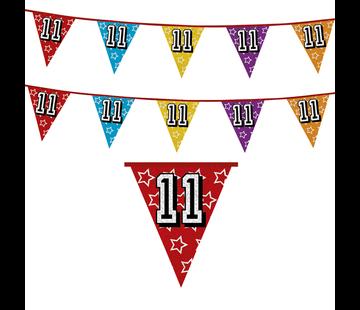 Vlaggenlijn 11 jaar | Glitter slinger 11 jaar