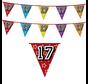 17 jaar verjaardag vlaggenlijn