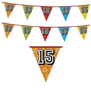 Vlaggenlijn 15 jaar Feestversieringen