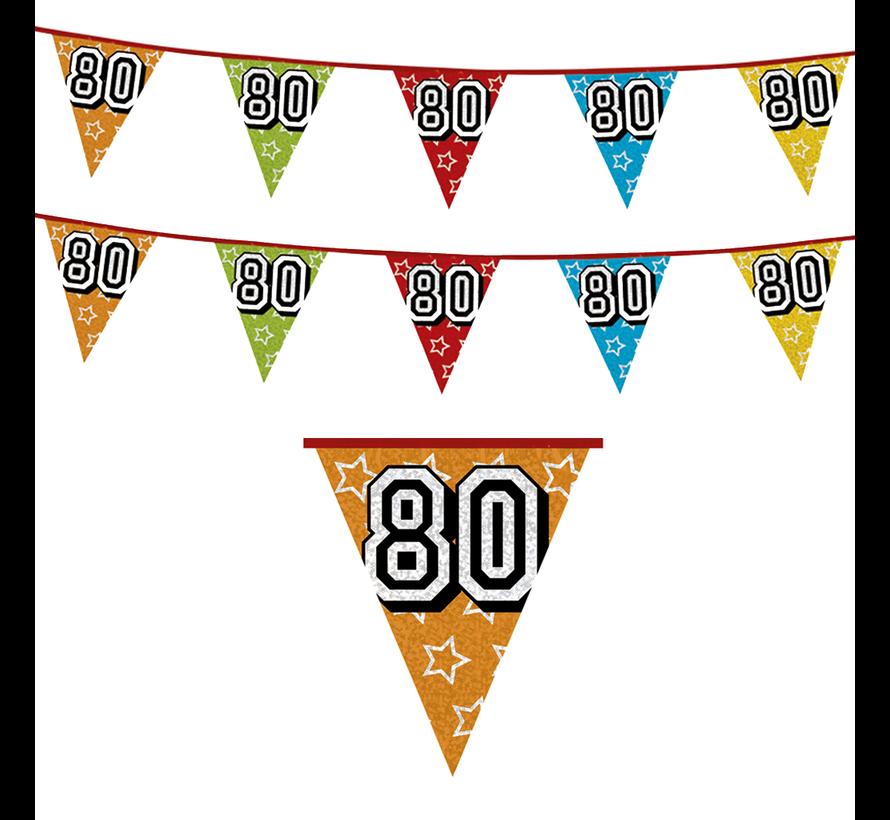 Vlaggenlijn 80 jaar versiering