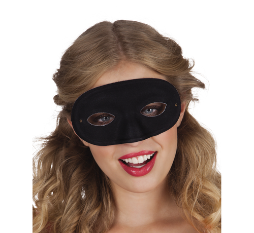 Goedkope carnavals oogmasker zwart