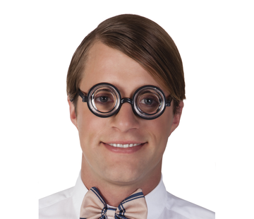 Nerd bril met jampot glazen