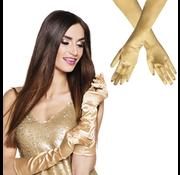 Halflange handschoenen goudkleurig