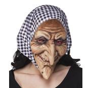 Latex masker Heks met kap