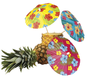 Cocktailprikkers parasol Hibiscus