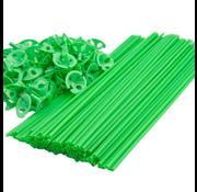 Groene ballonnenstokjes