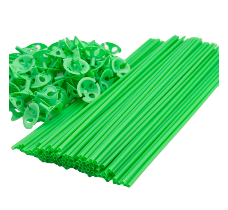 Groene ballonnenstokjes goedkoop kopen