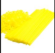 Gele ballonnenstokjes