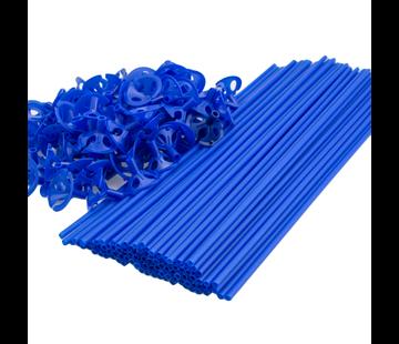 Blauwe ballonnenstokjes