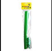 Groene ballonstokjes
