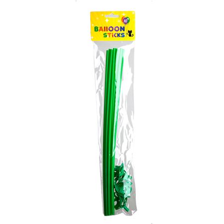 Groene ballonstokjes met houders