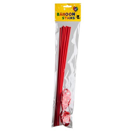 Rode ballonstokjes met houders