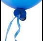 Ballon snelsluiters blauw met lint