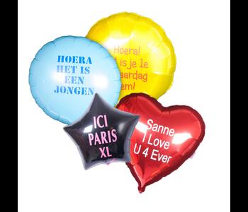 Bedrukte folieballonnen