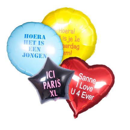 Bedrukte folie tekstballon kopen online