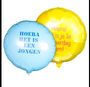 Bedrukte Ronde folieballon (met helium)